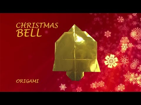 Christmas Bell - Fun DIY easy origami for Holiday decoration
