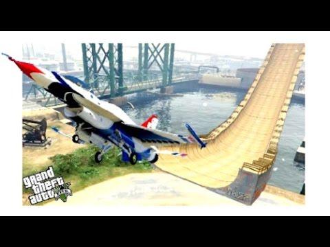 GTA 5✦Air Craft Stunning Takeoff With Ultra Ramp Funny Mod