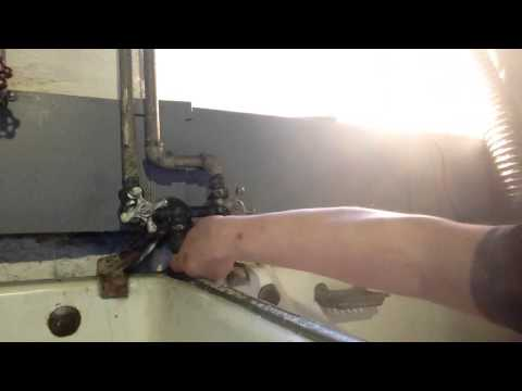 Fix leak antique faucet spicket laundry tubs part 2