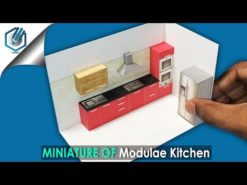 DIY miniature modular kitchen interior
