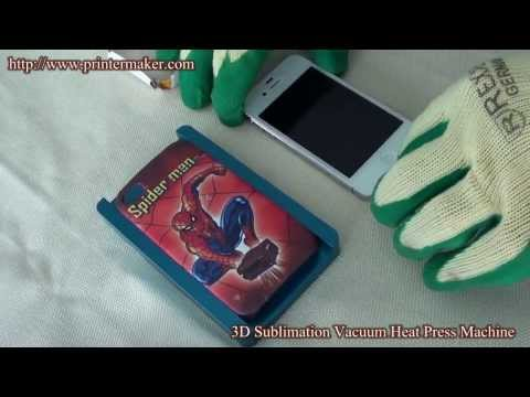 How To Print On Phone Case with 3D Heat Transfer Machine (Training Video)