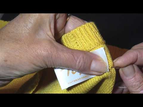 HOW TO SEW A LABEL INTO A GARMENT