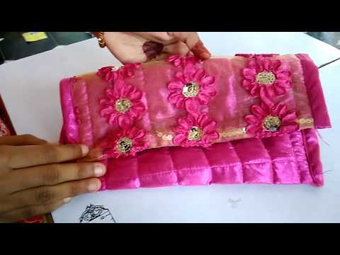 How To Make Hand Made Purse With Waste Cloth || How To Stitch Hand Purse At Home