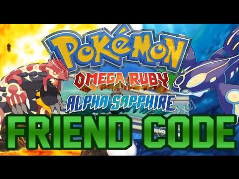 Pokémon Omega Ruby Alpha Sapphire Friend code exchange ★ Pokemon ORAS FC ★ 3DS