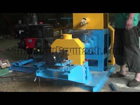 Diesel Fish Feed  Pellet Machine, Floating Fish Feed Extruder Machine