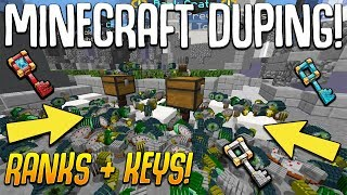 MINECRAFT FACTIONS DUPING CRATES KEYS, MONEY, GOD APPLES AND