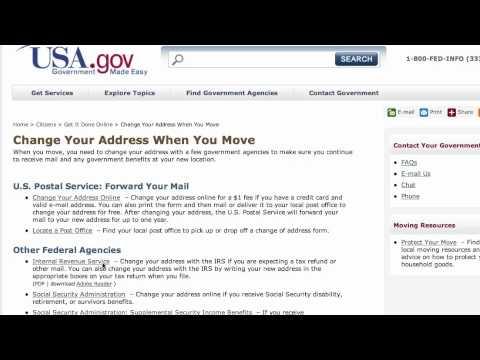 Who should I tell when I change my address - by using USA.gov
