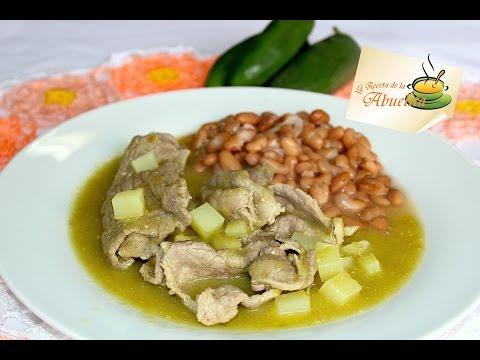 Receta de bistec en salsa verde - La receta de la abuelita