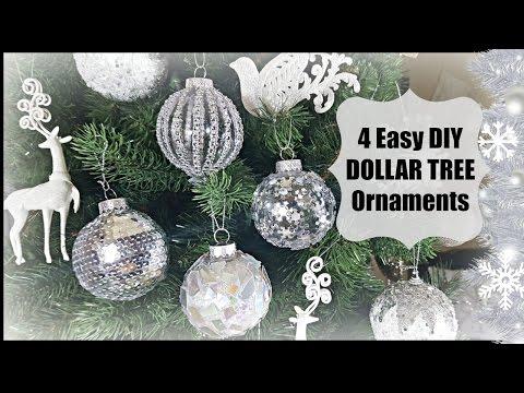 DIY DOLLAR TREE | CHRISTMAS GLAM ORNAMENTS | HOME DECOR EASY DECORATION CRAFT