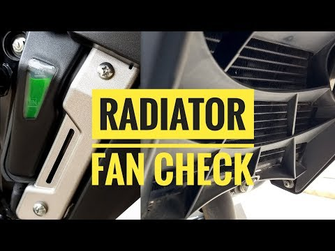 How to check whether Radiator fan works or not in Pulsar NS200