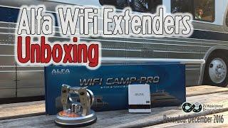 Alfa WiFi Extending Gear Unboxing - WiFi Camp Pro, Desktop & R36
