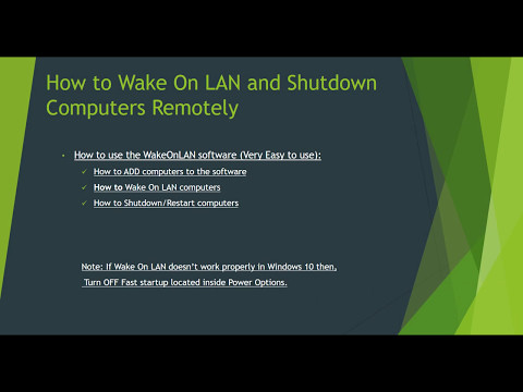 How to Wake On LAN and Shutdown Computers Remotely