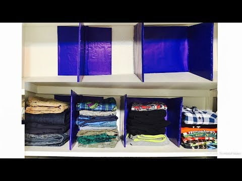 How to make shelf divider | closet organization diy from cardboard | Zero cost
