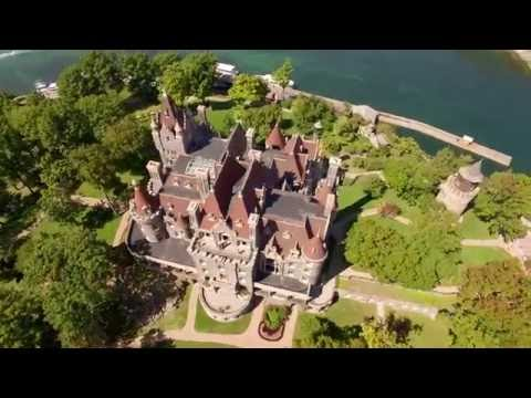 Boldt Castle / Heart Island - 1000 Islands Aerial in 4K