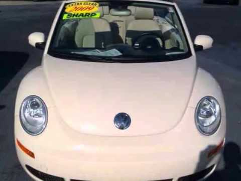 09 VOLKSWAGEN Beetle Convertible Auto Triple Beige Certified Pwr Top 1 Owner