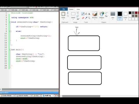 C++ : Print char array in reverse using recursion