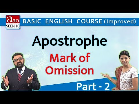 Apostrophe - 2 (Mark of Omission) - Basic English (Improved) - Video 49
