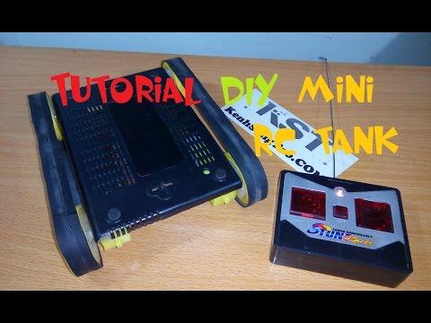 Tutorial DIY mini RC tank, How to make MINI Tank remote control