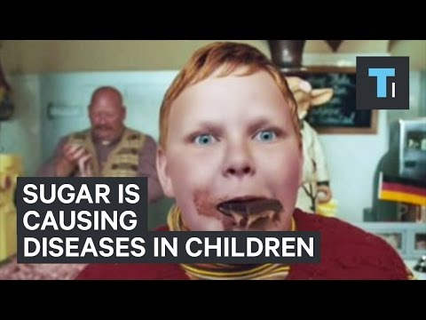 Children who eat too much sugar are developing diseases only alcoholics used to get
