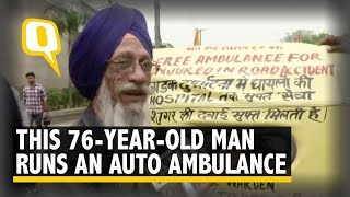 76-Year-Old Ex-Traffic Warden Runs 'Auto Ambulance' Free of Cost   The Quint