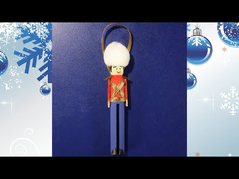 How To Make Toy Soldier Clothespin Ornaments