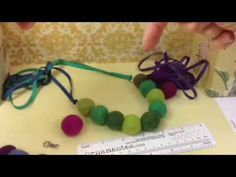 How To Create A Color Pop Felt Necklace