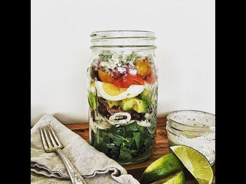 Ultimate Make-Ahead Mason Jar Cobb Salad w/ @kevmasse