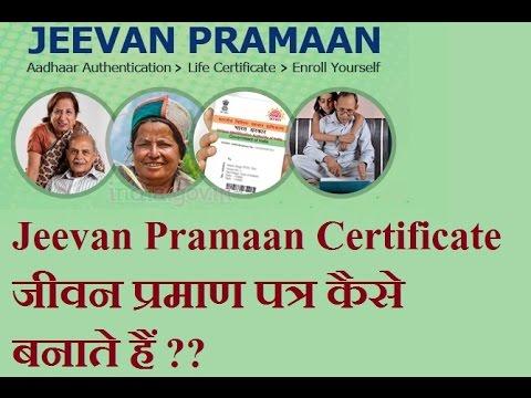 Jeevan Pramaan Certificate जीवन प्रमाण पत्र कैसे बनाते हैं