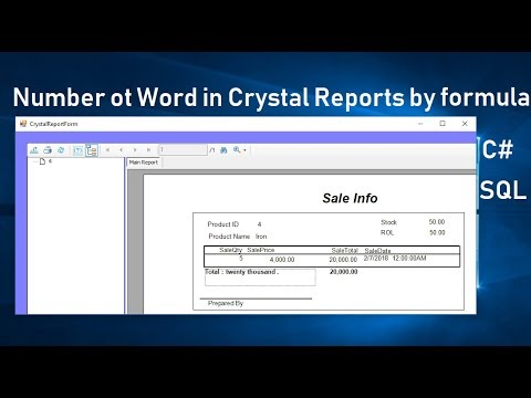 how to add formula field in crystal report step by step. number to words part 3