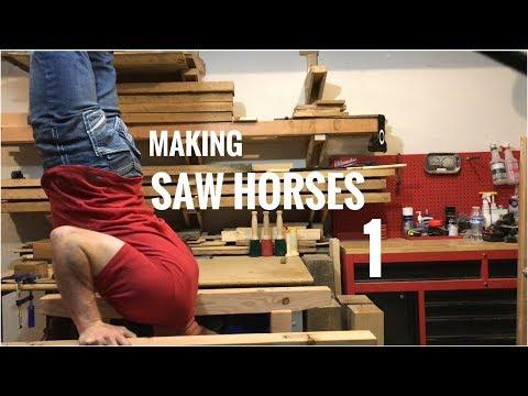 Making The Samurai Carpenter's Saw Horses! - Part1