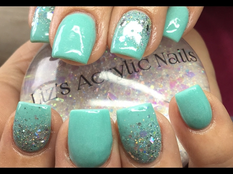 Acrylic Nails | Mint Green
