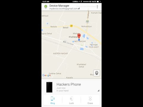 ANDROID DEVICE MANAGER IN {HINDI} erase locate ring lock