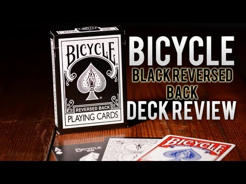 Deck Review - Bicycle Black Reversed Back Playing Cards
