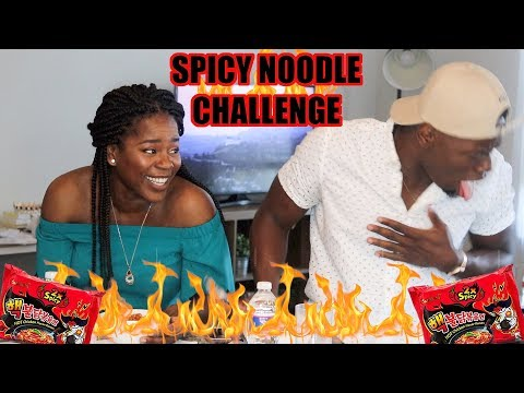 EXTREME SPICY NOODLE CHALLENGE FUNNY AF (HE ALMOST DIES)