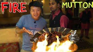 AMAZING FIRE Mutton BBQ & Kolkata DESSERTS!