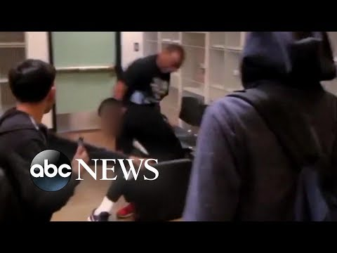 Xxx Mp4 Violent Brawl Between Teacher And Student In California Classroom 3gp Sex