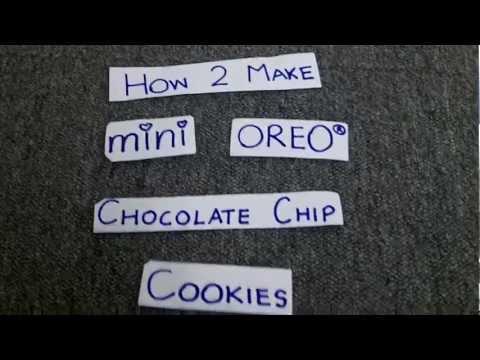 In Plain English- How to Make Mini Oreo Chocolate-Chip Cookies