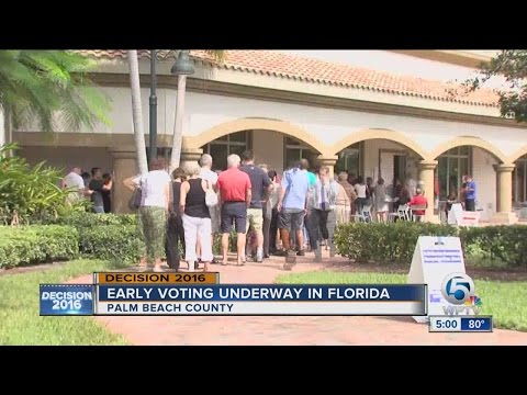 Early voting underway in Florida