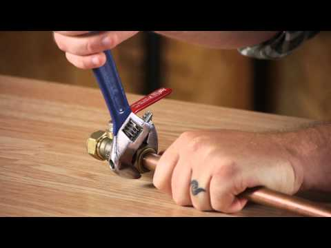 How to Install a Plumbing Compression Shut-Off Valve : Plumbing Repair