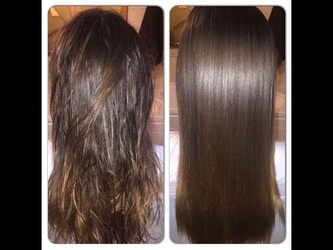 Super soft,silky,straight hair naturally at home