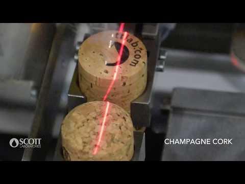 Cork Laser End Branding Technology