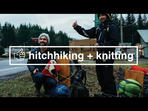 How to Hitchhike While Knitting a Canadian Flag
