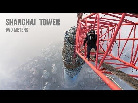 Urban Ninjas sobe Torre Shanghai