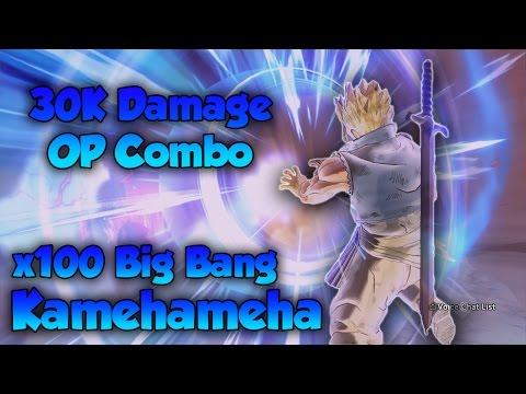 INSANE 30k damage OP Combo! x100 Big Bang Kamehameha! - Dragon Ball Xenoverse 2