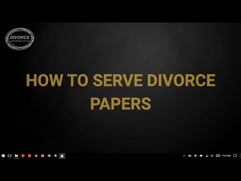 How To Serve Divorce Papers In Australia
