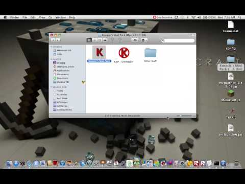 How to install Kovacics Mod Pack Mac for Minecraft