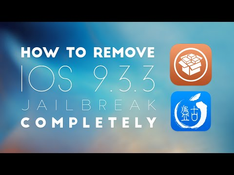 How to Unjailbreak & Remove Cydia iOS 9.3.2, 9.3.3 | JTechCentral | All Devices