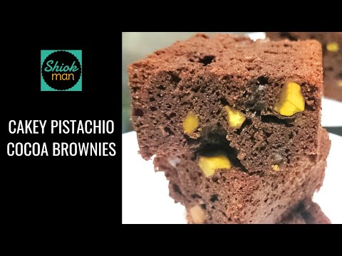 Shiokman Cakey Pistachio Cocoa Brownies