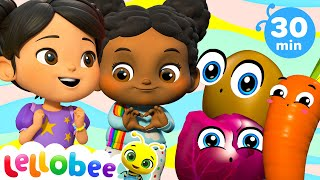 Yes Yes Vegetables Song! | +More Lellobee City Farm - Cartoons and Kids Songs | Learning Videos