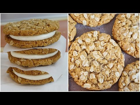 Oatmeal Creme Pie Recipe | The best CHEWY Oatmeal Cookies!